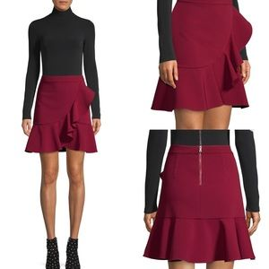 Alice + Olivia Skirts - Alice + Olivia Juno Maroon Skirt